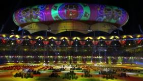 Artists perform during the Closing Ceremony of the Games - PTI